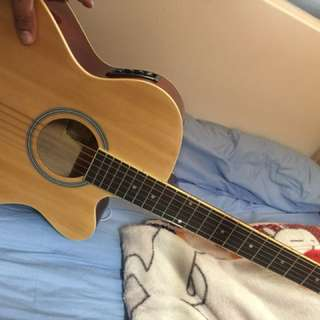 Guitar with case and picup ,capo