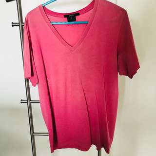 Gucci Twin V-Neck T Shirt Medium