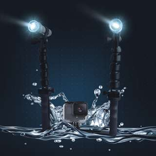 SHOOT XT-11 Diving Lighting Set with waterproof LED Torch for Gopro Hero 6/5 and other Action Camera