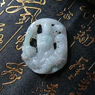 🚚 天然A貨緬甸冰種翡翠玉-乘鳳觀音
