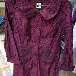 Atasan ungu warna gradasi ..cakeep aslinya, model spt coat