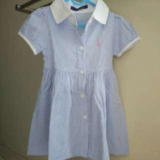 Dress blue and pink polo ori