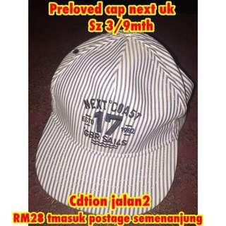 Preloved cap 3/9mth