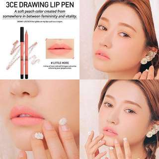 "3CE lip pen ""Little More"""