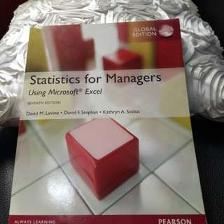 Statistics for Managers Pearson- Statistics Textbook