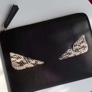 Fendi Monster Eyes Bags Clutch Zip
