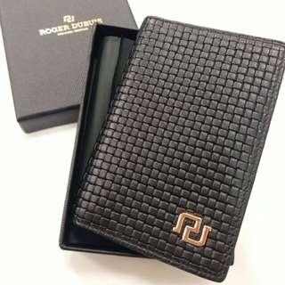 Roger Dubuis black cardholder 黑色 織皮 卡片套