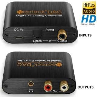Brand New! Neotek Hi-Res 192kHz 24bit Digital To Analog DAC Converter - $20
