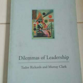 SALE💞Dilemma Of Leadership Guide Book