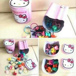 Hello Kitty Hair Accessories Tin Can