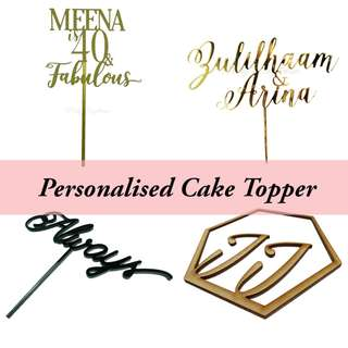 Personalized / Customised Cake topper