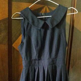 Navy vintage look dress