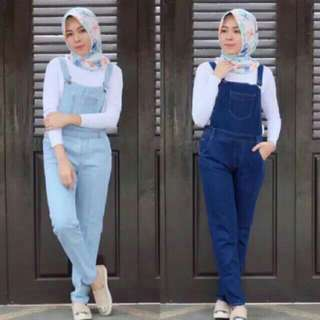 Celana overall jeans