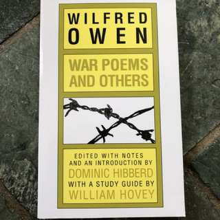 Wilfred Owen war poems and others