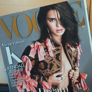 Vogue Magazine - Kendall Jenner
