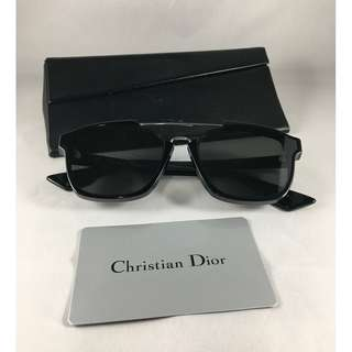 CHRISTIAN DIOR BLACK ROUGUE SUN GLASSES WITH METALLIC LENSES - AB1217-L000018