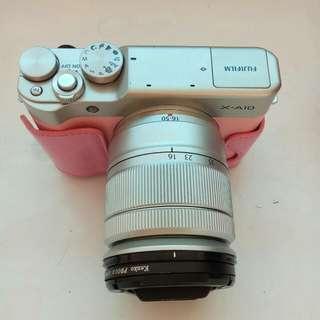 """dijual kamera """"PINK"""" Fuji film x-A10"""