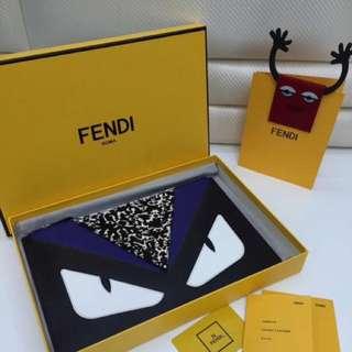 Fendi Bag Bug Monster Eyes Detail Clutch Black