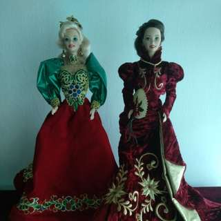 Barbie Porcelain Dolls Holiday Jewel & Holiday Ball