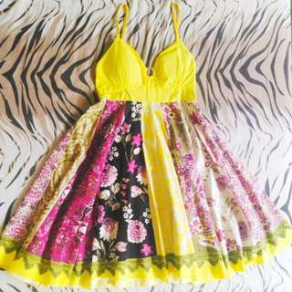 Yellow Summer Dress (Above the knee length)