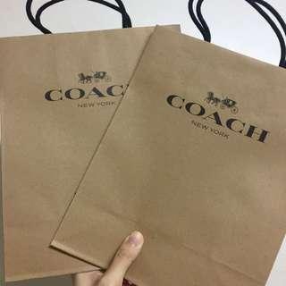 COACH紙袋二入