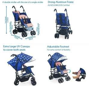 Tandom Double Stroller