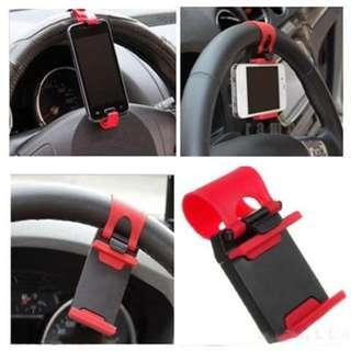 Phone Socket Holder For Car Steering Wheel