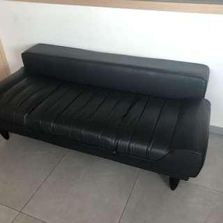 Half leather sofa