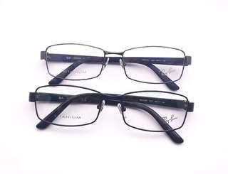 Rayban rb8726 square titanium eyewear