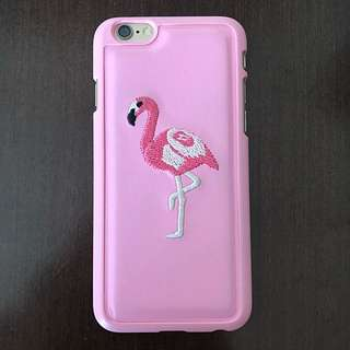 Casing Iphone 6 Flamingo Bordir timbul