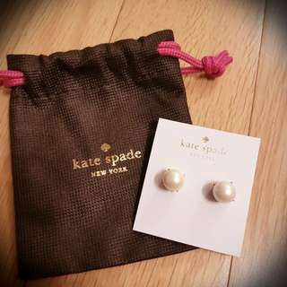 30% off Kate Spade Pearl Earrings 珍珠耳環