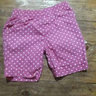 Pink polka shorts
