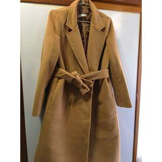 🚚 (正韓)羊毛駝色大衣外套