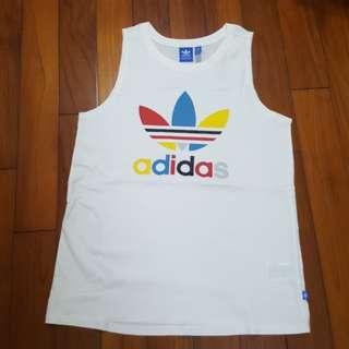 🚚 Adidas original 彩色大logo背心