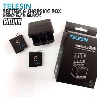 Telesin Battery & Charging Box for GoPro Hero 5/6 Black