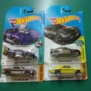 HotWheels Dodge Edition - 4 pieces