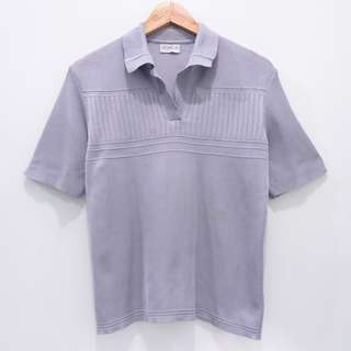 AL189 BLOUSE ROBLE HIGH QUALITY KNIT SOFT GRAY BEKAS SECOND PRELOVED