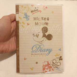CLEARANCE Disney Mickey 2018 B6 schedule book planner diary journal agenda
