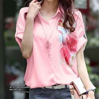 Polo blouse fits S-L