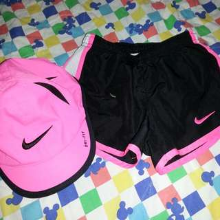 Auth. NIKE SHORT AND CAP