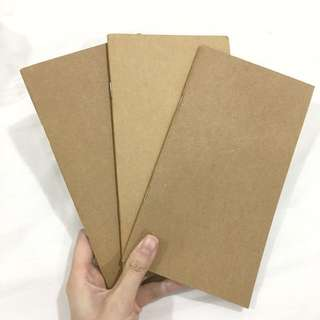 Kraft Cover Long Notebook with Blank Pages