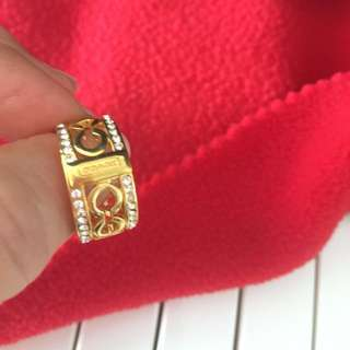 14k Gold plated authentic Coach ring