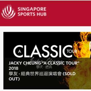 Selling 1 pair Jacky Cheung concert 9th Feb 2018