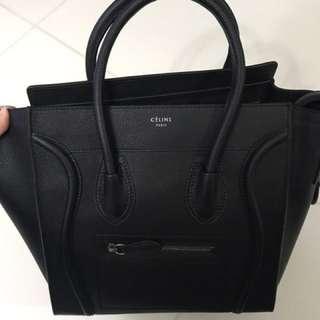 Celine luggage black