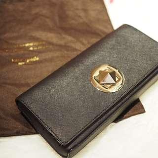 Kate Spade New York Black Saffiano Leather Keira Clutch