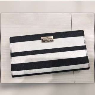 AUTHENTIC Kate Spade Black and White Striped Wallet