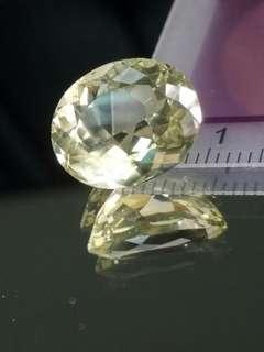 天然無處理大克拉矽線石Sillimanite橢圓型切面裸石10.9克拉