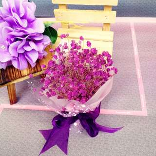 Preserved Baby's Breath Bouquet Box
