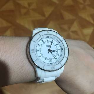 Original Ceramic Storm Watch (London designed watch) rarely used in good working condition no issues with box (Japan Movement)