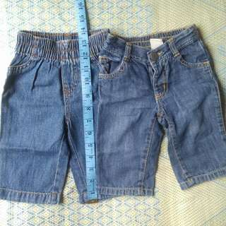 2 Pcs Baby Denim Pants (Jumping Beans And Old Navy)
